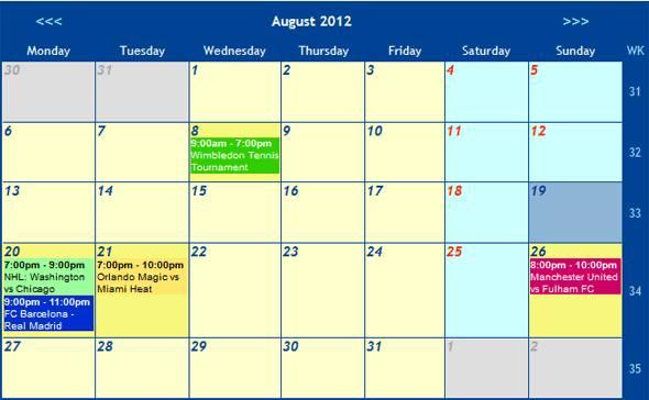 Calendar Events Event Calendar Php a Calendar