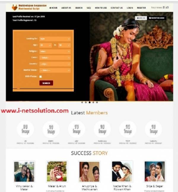 Matrimony website software php script
