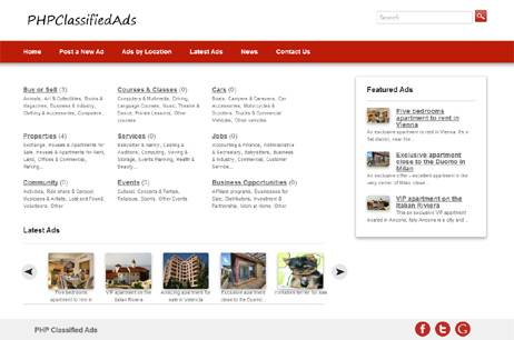 PHP Classified Ads php script
