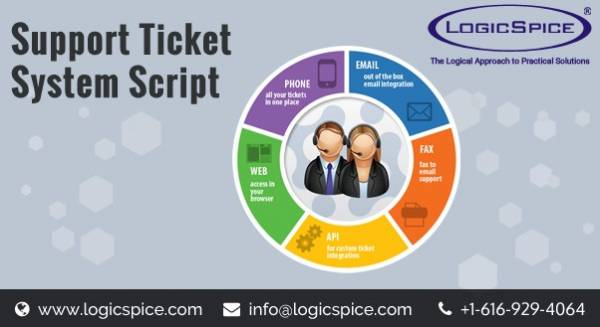 Customer Support Ticket System by Logicspice php script